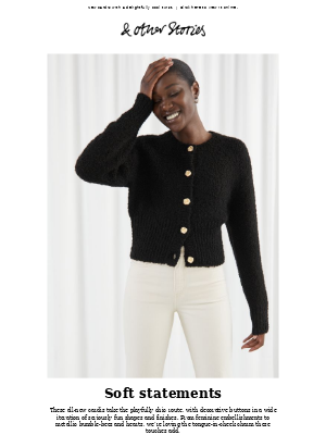 & Other Stories - Bold-buttoned knits
