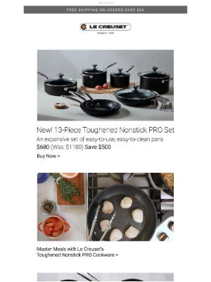 Le Creuset - Save on Le Creuset's Nonstick, Now 4x Stronger