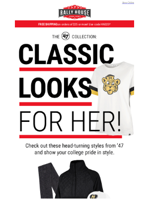 Rally House - Just for Her: Comfy Tees & More!