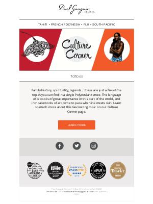Paul Gauguin Cruises - Culture Corner: Tattoos