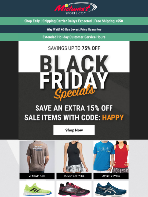 Midwest Sports - Up To 75% OFF BLACK FRIDAY SALE   Amazing Babolat Deals