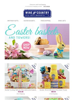 WineCountryGiftBaskets - Easter baskets - share the goodness