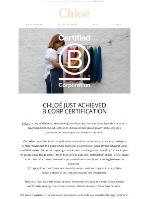 Chloé - Sustainability at Chloé