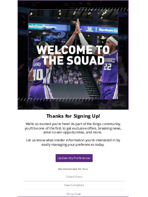 Sacramento Kings - Welcome to the Kings! 👑