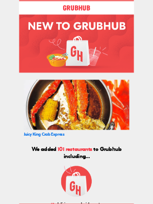 GrubHub - Now delivering: check out this hot spot near you