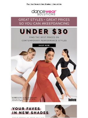 Dancewear Solutions - Contemporary Classics Under $30