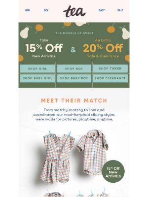 Tea Collection - 15% Off New Sibling Styles