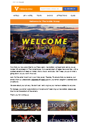 Vegas.com - Welcome to The Inside Scoop