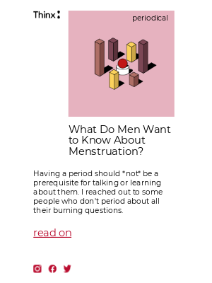Here's what 8 cis men want to know about menstruation