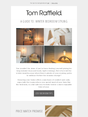 Five tips for a cosy winter bedroom