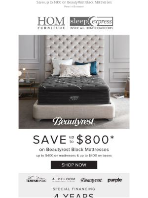 HOM Furniture - Truly indulgent, restorative sleep