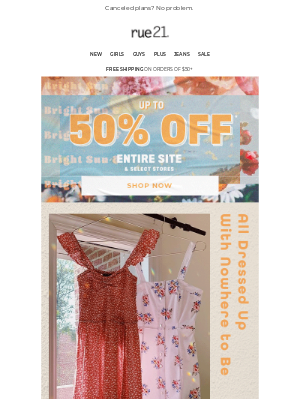 CUTE summer styles up to 50% off!
