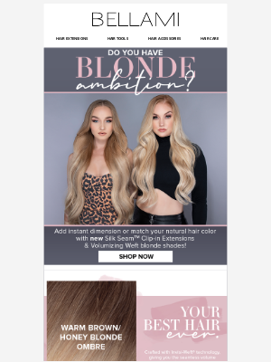 BELLAMI Hair - JUST IN: New 👏 Blonde 👏 Shades