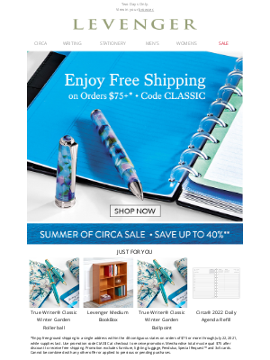 Levenger - Free Shipping for You.