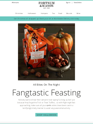 Fortnum & Mason - Trick or Treat Yourself 🎃