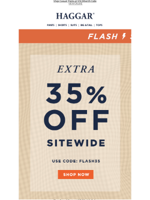 Extra 35% Off Everything + Free Shipping!