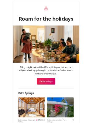 Airbnb - Victor, plan a cozy holiday getaway