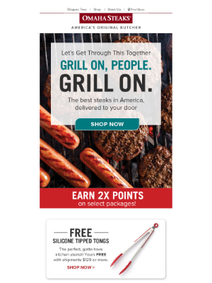 Just for you: Free Tongs + 2x Points