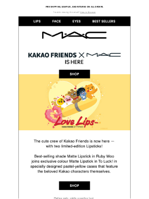 MAC Cosmetics - Just dropped! A special 💄 collab with Kakao Friends.