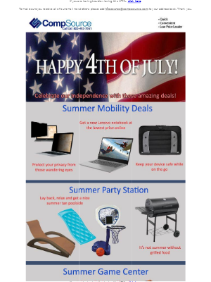 CompSource - Celebrate our Independence with Great Savings!