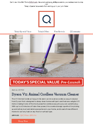 See Today's Special Value Pre-Launch: Dyson V11 Animal Cordless Vacuum Cleaner