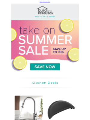 Build - Take on the summer with big deals!