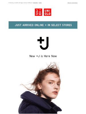 UNIQLO - NEW +J collection from the designer Jil Sander is here! The wait is over