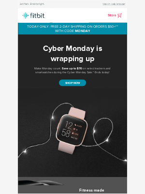 Save $70 on Versa 2 + FREE 2-day shipping
