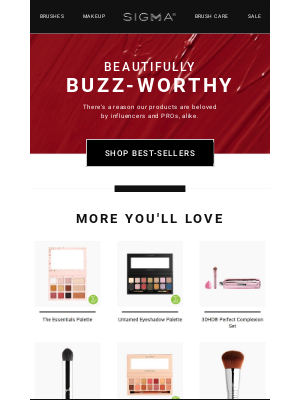 Sigma Beauty - Anthony, we've selected these just for you!