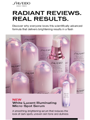 """Shiseido - """"A must have in my skincare routine!"""""""