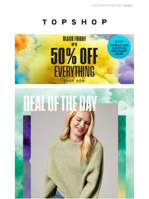 Topshop (UK) - Deal of the day: £19.99 jumpers