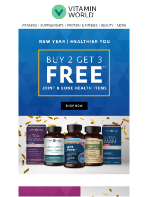 Vitamin World - Buy 2 Get 3 FREE Sitewide Continues!