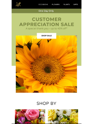 40% Off – Customer Appreciation Sale