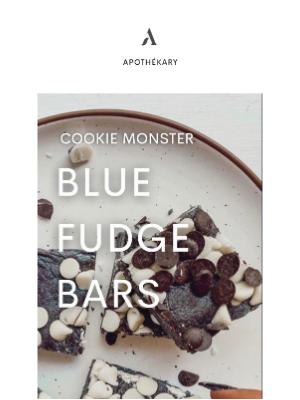 Apothekary - Cookie Monster Blue Fudge Bars 🍪🥛
