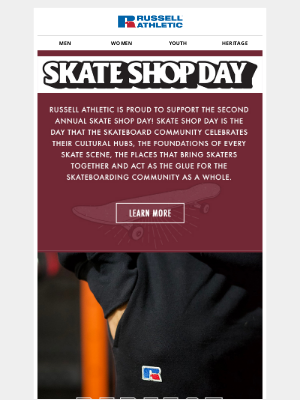 Russell Athletic - Celebrate Skate Shop Day | 25% Off Fleece Sets