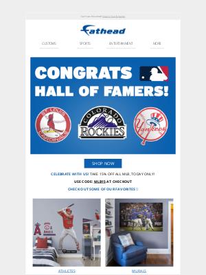 Fathead - Congrats, MLB Hall of Famers! ⚾