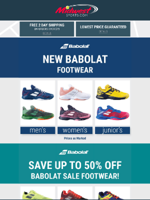 Midwest Sports - Save Up To 50% Off Babolat & K-Swiss Sale Shoes + Check out New Footwear Styles!
