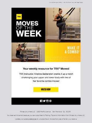 TRX Moves Of The Week: Full Body Combo!