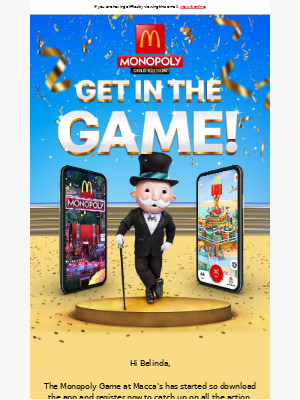 McDonalds Australia - Join the biggest Monopoly Game at Macca's ever!