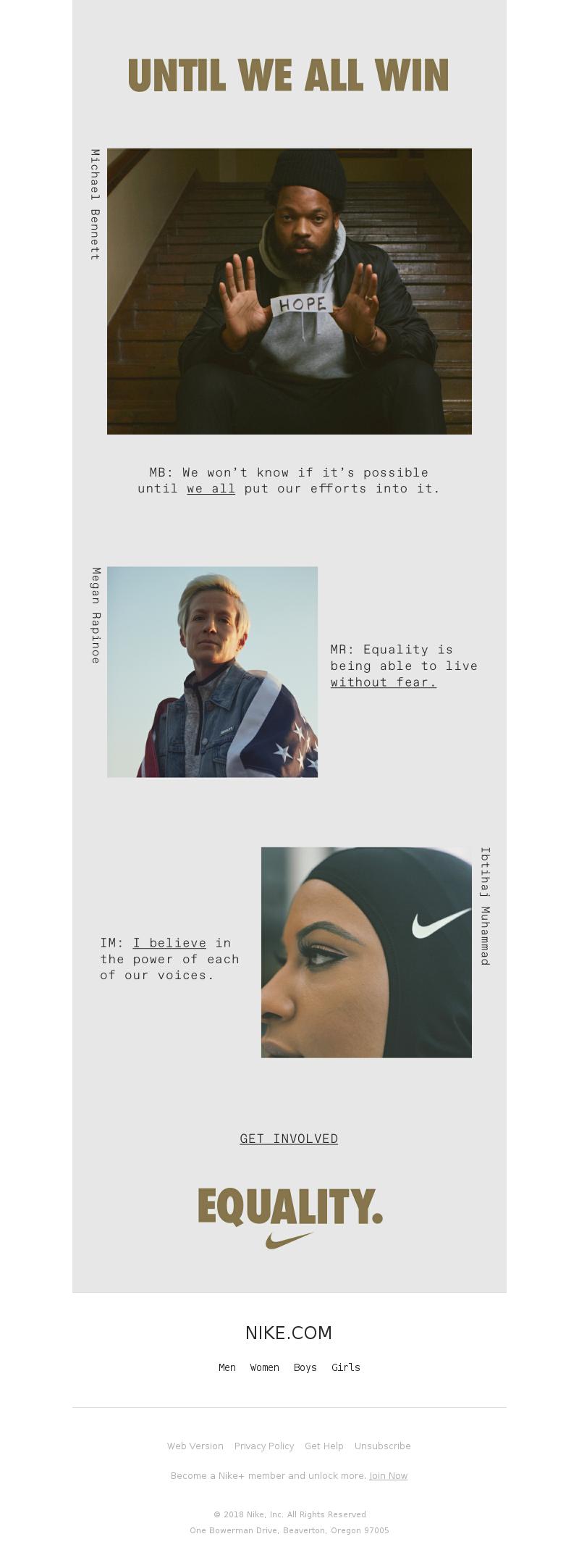Nike - EQUALITY.
