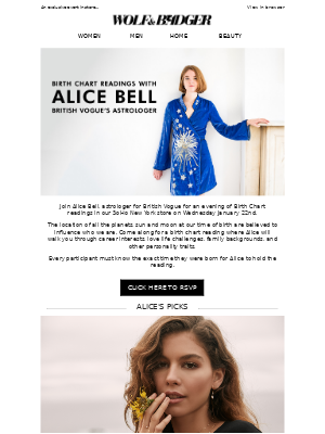 Birth Chart Readings with Alice Bell, British Vogue's Astrologer