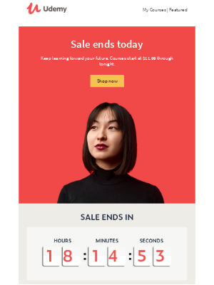 Udemy - Our sale ends today. Buy now to reach your goals for less.