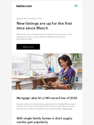 Better - Mortgage News: December sees a rise in new home listings