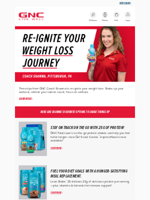 GNC - Shake Up Your Weight-Loss Journey With These Tips!