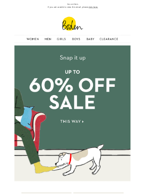Boden (UK) - More sale you say? Up to 60% OFF continues