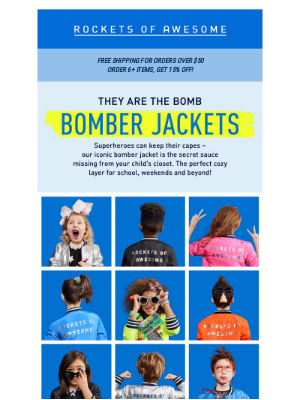 ROCKETS OF AWESOME - The bomb: shop these amazing site exclusives