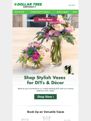 Dollar Tree - We're All About That Vase!