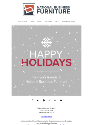 National Business Furniture - Happy Holidays to you and yours!