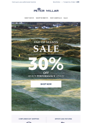 Peter Millar - 30% Off Select Performance Styles: New To Sale