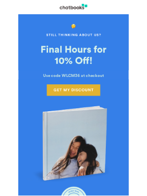 Chatbooks - Don't Lose Your 10% Off